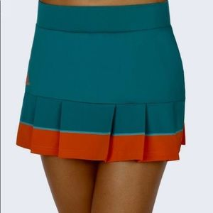 Adidas Tennis Skirt Orange and Teal size M/L